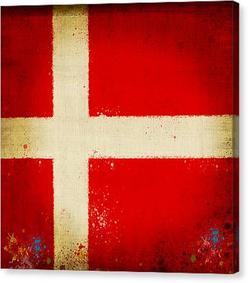 Denmark Flag Canvas Print