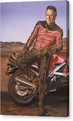 Dennis Hopper Canvas Print by Bryan Bustard