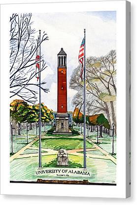 Arkansas Canvas Print - Denny Chimes At University Of Alabama by Yang Luo-Branch
