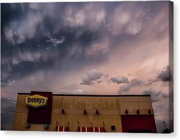 Denny's At Sunset Canvas Print