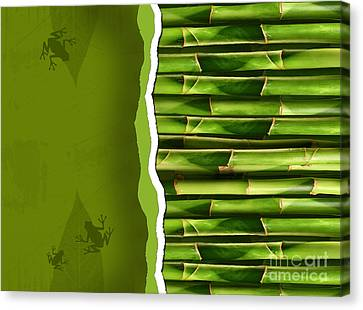Dense Bamboo Stalk With Copyspace Canvas Print by Sandra Cunningham