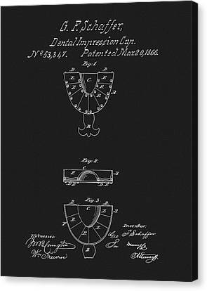 Dental Mold Patent Canvas Print by Dan Sproul