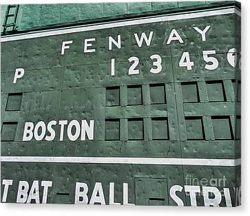 Dented Scoreboard Canvas Print by Bill Dussault