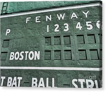 Dented Scoreboard Canvas Print