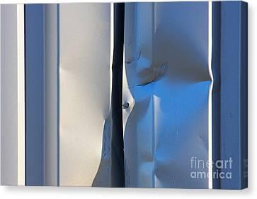 Metallic Sheets Canvas Print - Dented Steel Sheet by Jan Brons