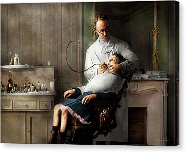Canvas Print featuring the photograph Dentist - Good Oral Hygiene 1918  by Mike Savad