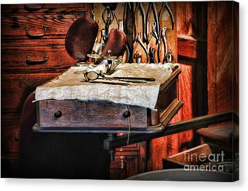 Dentist - Mouth Mirror And Extraction Tools Canvas Print by Paul Ward