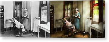 Canvas Print featuring the photograph Dentist - Patients Is A Virtue 1920 - Side By Side by Mike Savad