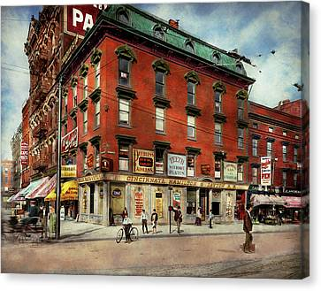 Canvas Print featuring the photograph Dentist - Peerless Painless Dental Parlors 1910 by Mike Savad