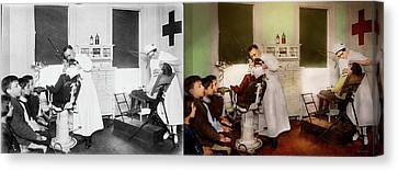 Canvas Print - Dentist - Treating Them Like Children 1922 - Side By Side by Mike Savad