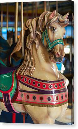 Dentzel Looff Carousel Horse Ken Seaside Nj Canvas Print by Terry DeLuco