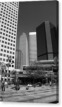 Denver Architecture Bw Canvas Print by Frank Romeo