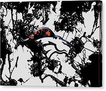 Denver Broncos 1b Canvas Print by Brian Reaves