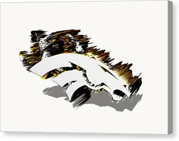 Denver Broncos 6a Canvas Print by Brian Reaves