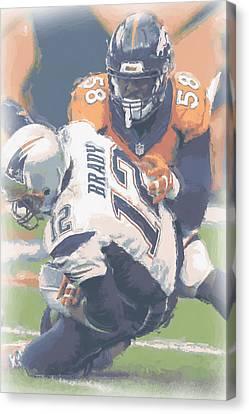 Denver Broncos Von Miller 2 Canvas Print