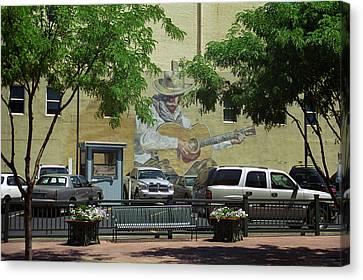 Denver Cowboy Parking Canvas Print by Frank Romeo