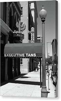 Denver Downtown Storefront Bw Canvas Print by Frank Romeo