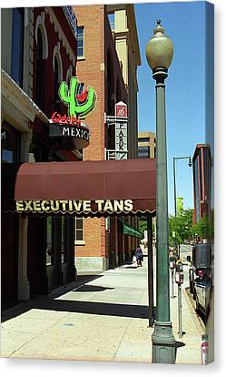 Denver Downtown Storefront Canvas Print by Frank Romeo