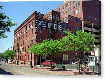 Denver Downtown Warehouse Canvas Print by Frank Romeo