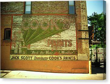 Denver Ghost Mural Canvas Print by Frank Romeo