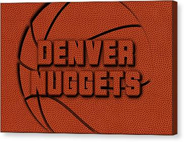 Denver Nuggets Leather Art Canvas Print