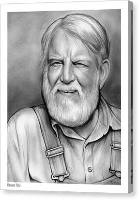 Andy Griffith Show Canvas Print - Denver Pyle by Greg Joens