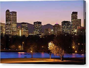 Denver Skyline - City Park View Canvas Print