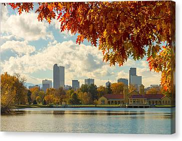 Denver Skyline Fall Foliage View Canvas Print by James BO  Insogna