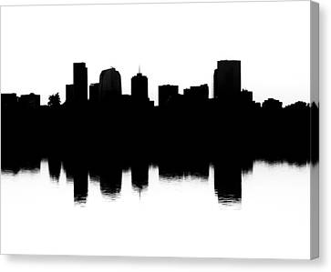 Denver Silhouette Canvas Print