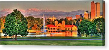 Denver Skyline Canvas Print by Scott Mahon