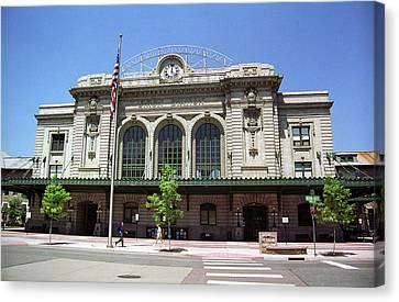 Denver - Union Station Film Canvas Print by Frank Romeo