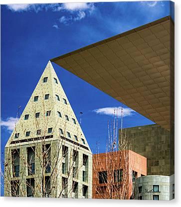 Denver Urban Geometry Canvas Print
