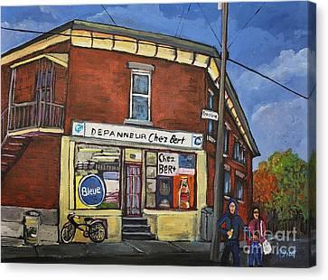 Depanneur Chez Bert Montreal Canvas Print
