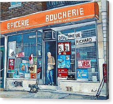 Depanneur Richard Canvas Print