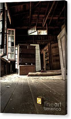 Abandoned House Canvas Print - Departed Years by Michael Eingle