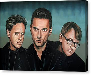 Depeche Mode Painting Canvas Print by Paul Meijering