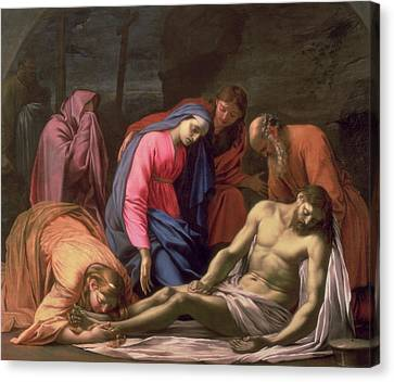 Deposition Canvas Print by Eustache Le Sueur