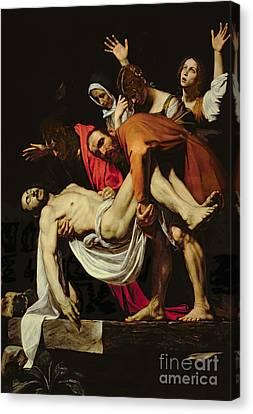 Deposition Canvas Print by Michelangelo Merisi da Caravaggio