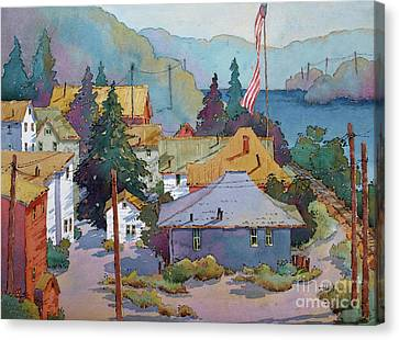 Depot By The River Canvas Print