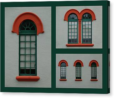 Depot Windows Collage One Canvas Print