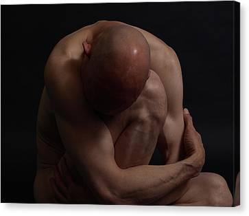 Depression Hits Canvas Print by Robert Gebbie