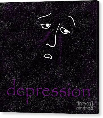 Depression Canvas Print by Methune Hively