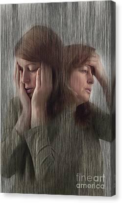 Depression, Stress, Headache Canvas Print