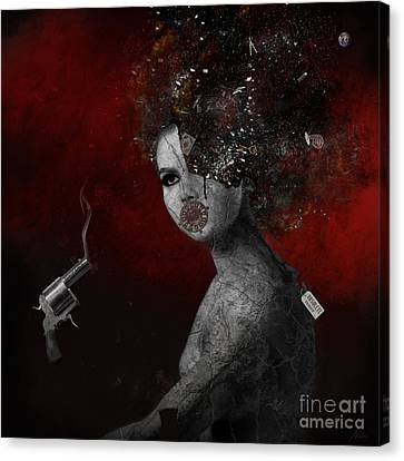 Canvas Print featuring the digital art Deprived by Nola Lee Kelsey