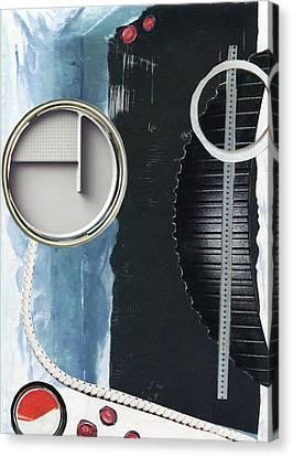 Depth Onto Space Canvas Print by Michal Mitak Mahgerefteh