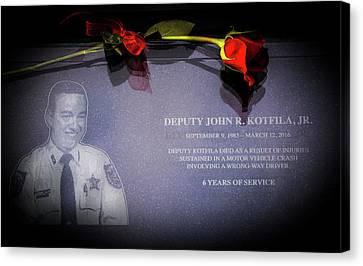 Arrest Canvas Print - Deputy Kotfila by Marvin Spates