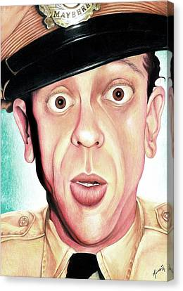 Deputy Of Mayberry Canvas Print by Marvin  Luna