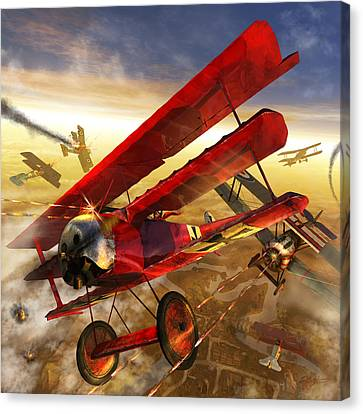 Der Rote Baron Canvas Print by Kurt Miller