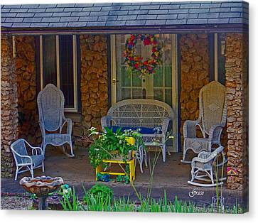Der Vaters Edge House Canvas Print