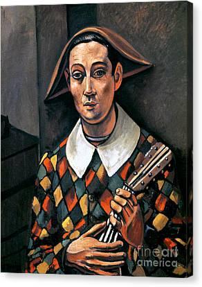 Lute Canvas Print - Derain: Harlequin, 1919 by Granger